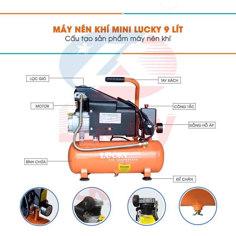 máy nén khí mini phun sơn