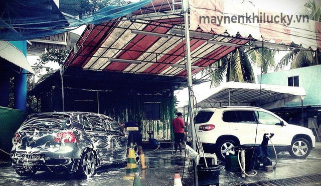 thiết kế mặt bằng rửa xe