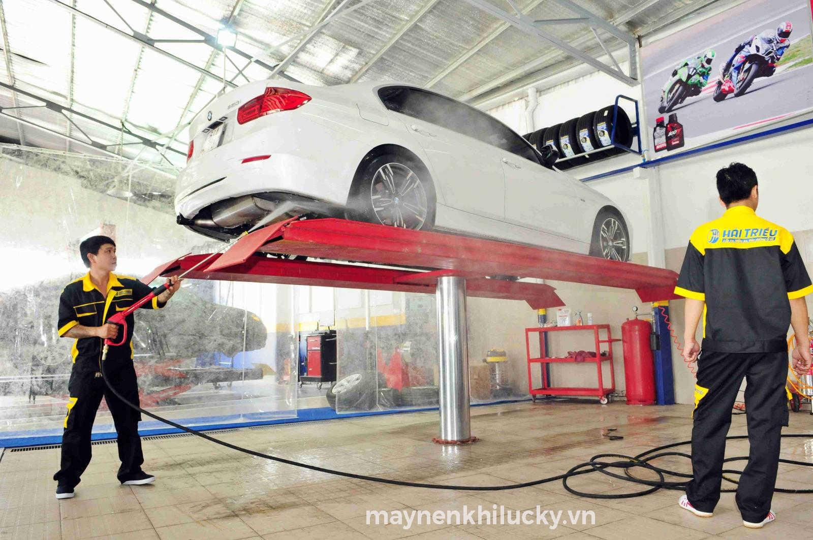 dây chuyền rửa xe ô tô