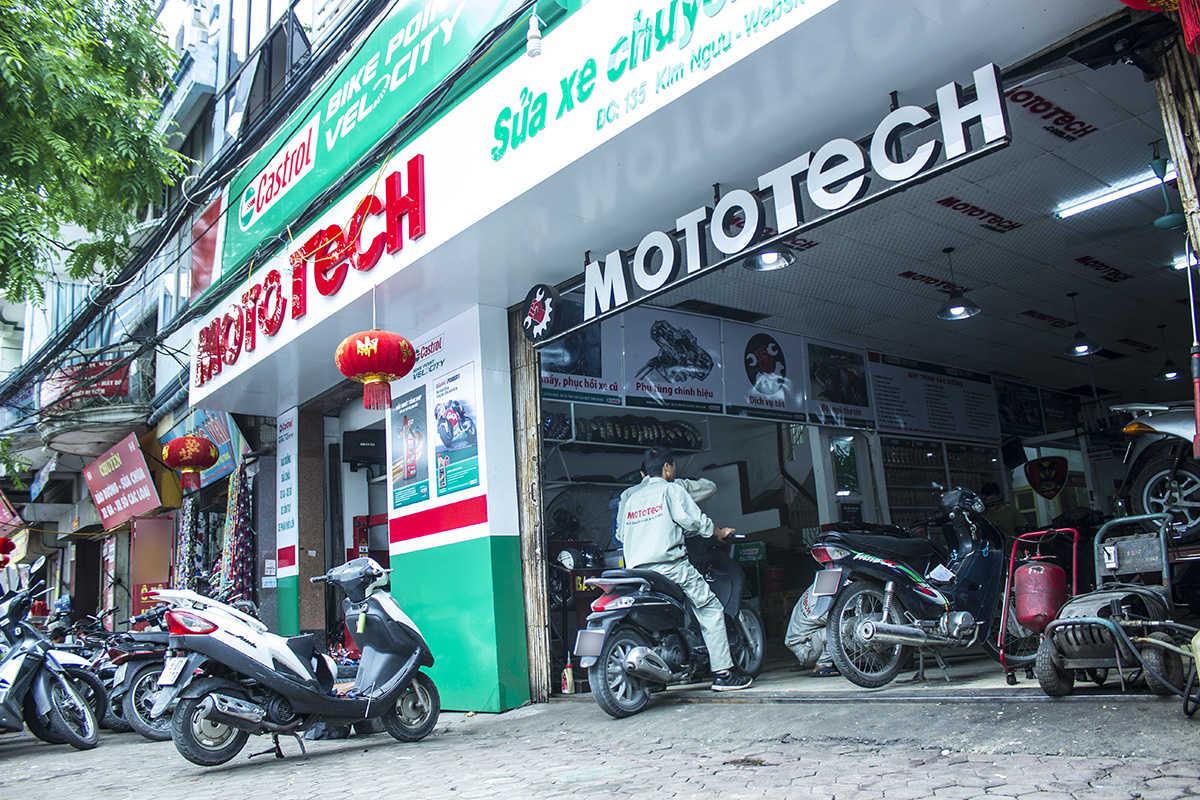 mở cửa hàng sửa chữa xe máy
